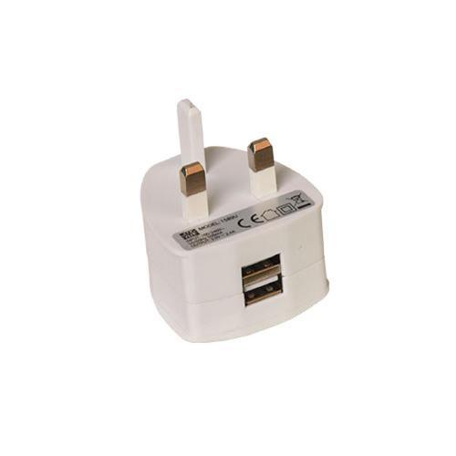 Two Port USB Power Plug Ref USBDBL