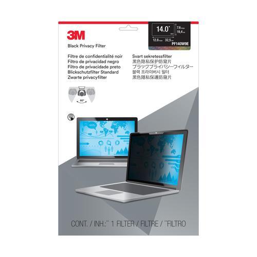 3M Blackout WideScreen Edge-to-Edge Laptop  Privacy Filter 14inch Ref PF140W9E