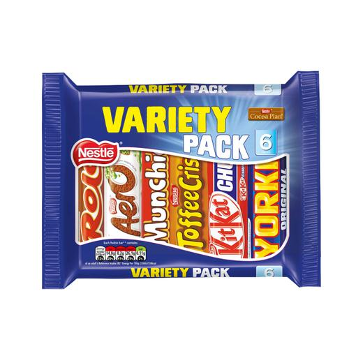 Nestle Standard Size Variety Pack Assorted 6 Varieties 264g Ref 12297992