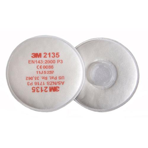 3M P3 Filter Pairs Bayonet Fitting System White Ref 2135 [Pack 10] *Up to 3 Day Leadtime*