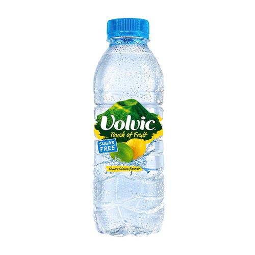 Volvic Natural Mineral Water Lemon & Lime Still SF Plastic Bottle 500ml Ref 122441 [Pack 12]