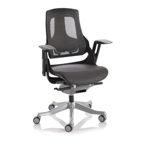 Adroit Zure Executive Chair Black Frame Mesh Charcoal Ref EX000220