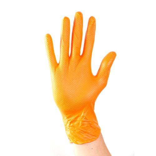 Aurelia Ignite Heavy Duty Nitrile Gloves XL Orange [Pack 100] Ref 97889