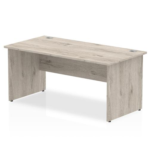 Trexus Rectangular Desk Panel End Leg 1600x800mm Grey Oak Ref I003089