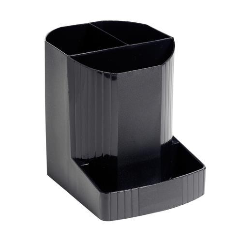 Exacompta Forever Pen Pot Recycled Plastic W90xD123xH111mm Black Ref 675014D