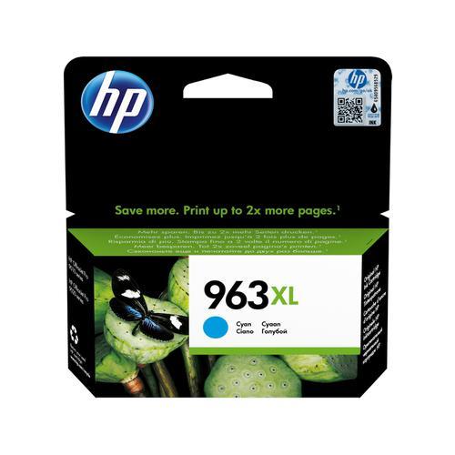 Hewlett Packard 963XL Inkjet Cartridge High Yield Page Life 1600pp 22.77ml Cyan Ref 3JA27AE