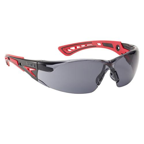 Bolle Rushplus Platinum Safety Glasses Smoke/Red Ref BORUSHPPSFPLUS *Up to 3 Day Leadtime*