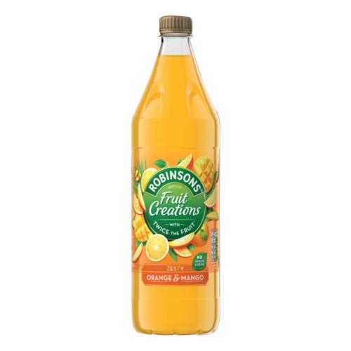 Robinsons Creation Squash No Added Sugar 1 Litre Orange & Mango Ref 962001 [Pack 12]