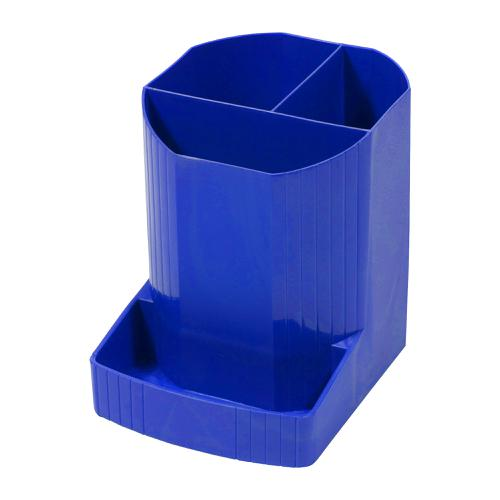 Exacompta Forever Pen Pot Recycled Plastic W90xD123xH111mm Blue Ref 675101D