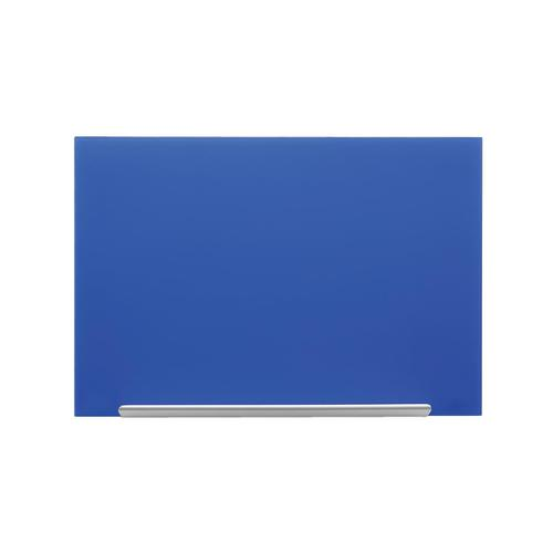 Nobo Diamond Glass Board Magnetic Scratch Resistant Fixings Included W1000xH560mm Blue Ref 1905188