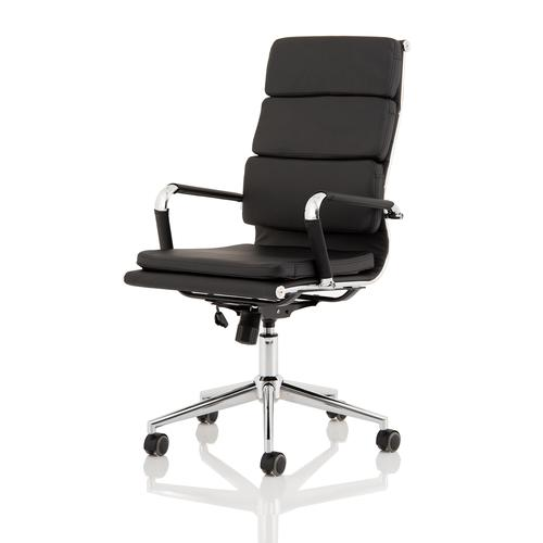 Trexus Hawkes Executive Chair Black PU Chrome Frame Ref EX000219