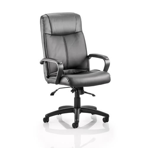 Trexus Plaza Executive Chair With Arms Bonded Leather Black Ref EX000052