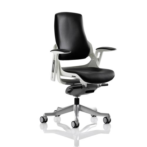 Adroit Zure Executive Chair With Arms Leather Black Ref EX000110