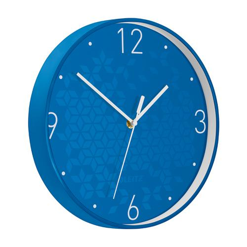 Leitz WOW Wall Clock 290x290x43mm Blue Ref 90150036