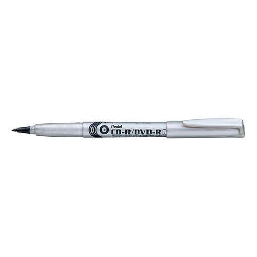 Pentel CD-R/DVD-R Marker Permanent Quick-dry Solvent-free Bullet Tip 2.0mm Black Ref NMS51-AO [Pack 12]