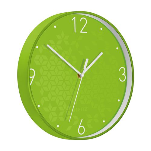 Leitz WOW Wall Clock 290x290x43mm Green Ref 90150054