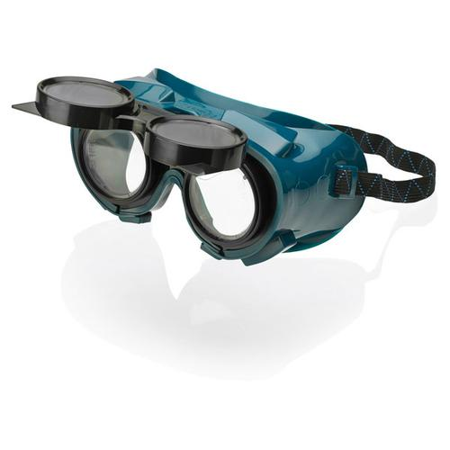 B-Brand Flip Front Welding Goggles Green Ref BBFFWG [Pack 12] *Up to 3 Day Leadtime*