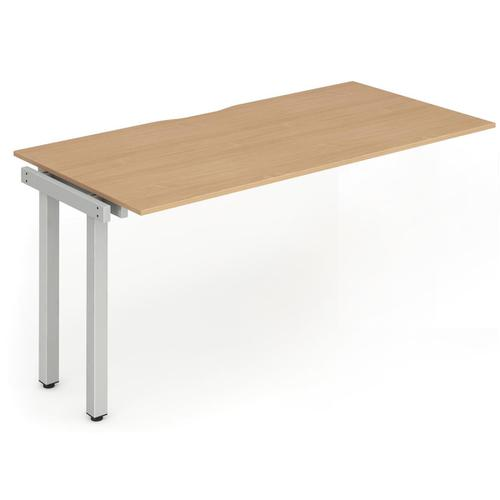 Trexus Bench Desk Single Extension Silver Leg 1200x800mm Beech Ref BE107