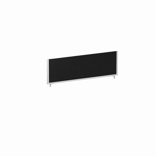 Trexus 1200x400 Rectangular Bench Desk Screen Black/Silver 1200x400mm Ref LEB049
