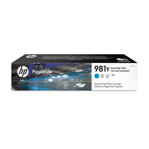 Hewlett Packard [HP] No.981Y InkjetCart PageWide XHYPageLife16000pp Cyan Ref L0R13A *3to5 Day Leadtime*