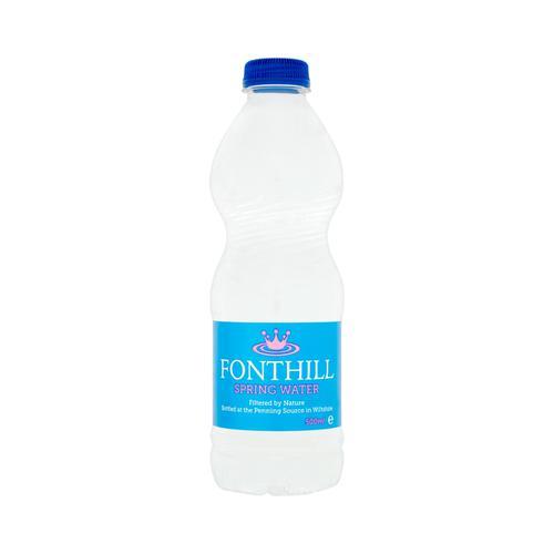 Fonthill Still Spring Water PET Plastic Bottle 500ml Ref FON5ML24 [Pack 24]