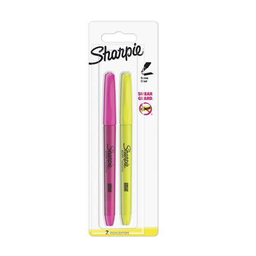 Sharpie Accent Pocket Highlighters Chisel Tip Assorted Fluorescent Ref S0907190 [Pack 2]
