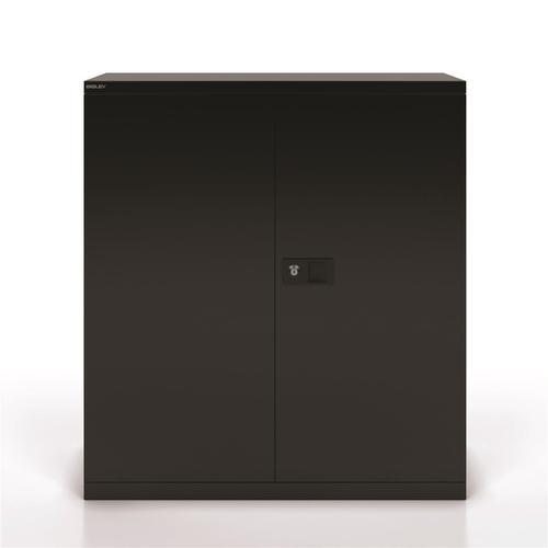 Trexus Two Door Steel Storage Cupboard 914x400x1000mm Black Ref E402A01-av1