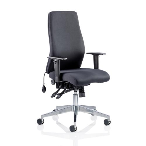 Adroit Onyx Posture Chair Black 450x470-540x590-640mm Ref OP000095