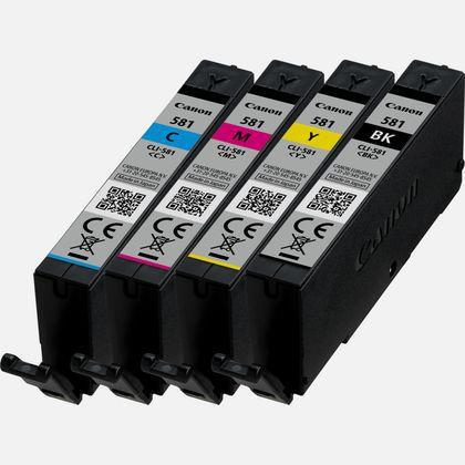 Canon CLI-581 Inkjet Cartridges 5.6ml Black/Cyan/Magenta/Yellow [Pack 4] Ref 2103C004