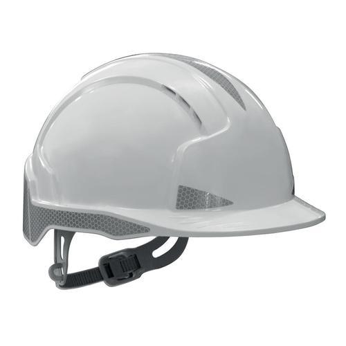 JSP EVOLite Safety Helmet ABS 6-point Harness Reflective Strips EN397 White Ref AJB160-400-100