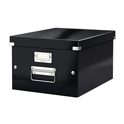Leitz Click & Store Collapsible Storage Box Medium For A4 Black Ref 60440095