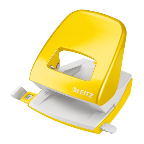Leitz NeXXt WOW 5008 Hole Punch 2-Hole Capacity 30 sheets Yellow Ref 50081016 [REDEMPTION] Apr-Jun20