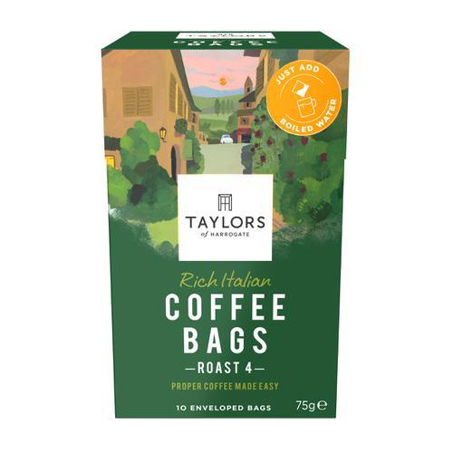 Taylors Rich Italian Coffee Bags Ref 0403390 [Pack 10]