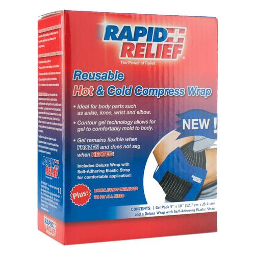 Rapid Relief Universal Reusable Hot/Cold Compress Wrap 5in x 10in Ref RA11250 *Up to 3 Day Leadtime*