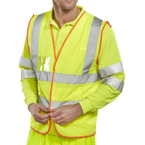 B-Safe Pre-Pack Vest Multipurpose Reflective XL Saturn Yellow Ref BS061XL *Up to 3 Day Leadtime*