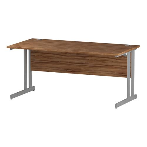 Trexus Rectangular Desk Silver Cantilever Leg 1600x800mm Walnut Ref I001902