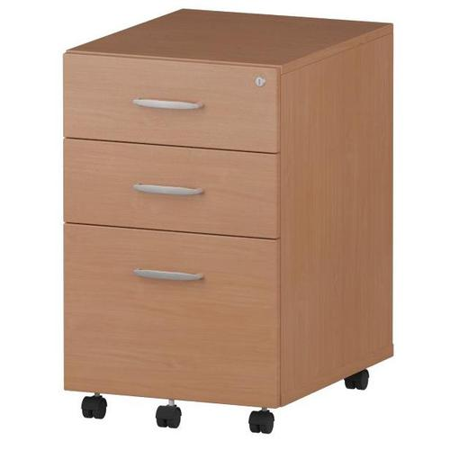 Trexus Tall Under Desk Mobile Pedestal 440x550x695mm Beech Ref I001648