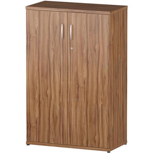 Trexus Office Medium Cupboard 800x400x1200mm 2 Shelves Walnut Ref S00006