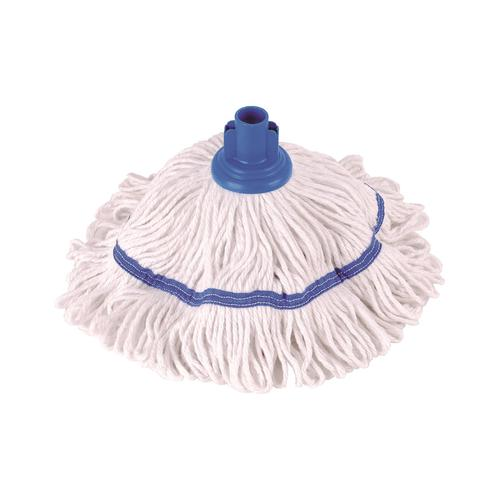 Robert Scott & Sons Hygiemix T1 Socket Cotton & Synthetic Colour-coded Mop 250g Blue Ref MHH250B