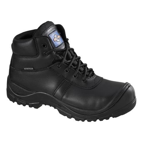 Rockfall Proman Boot Leather Waterproof 100% Non-Metallic Size 9 Black Ref PM4008-9 *5-7 Day Leadtime*