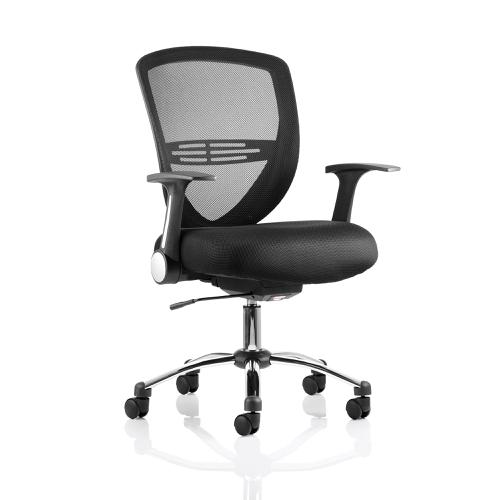 Trexus Iris Task Operator Chair With Arms Fabric Black Ref EX000135