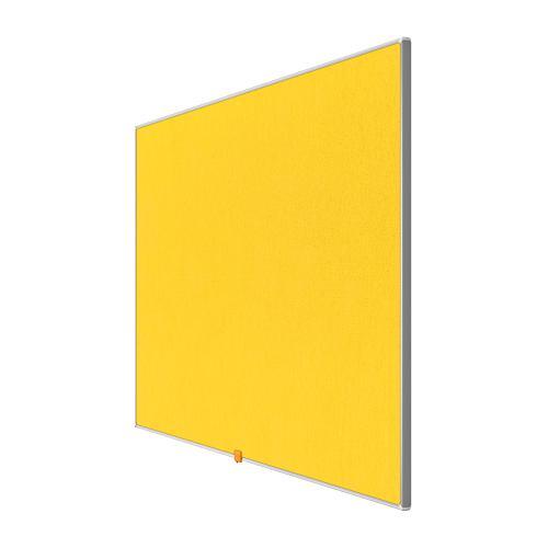 Nobo 32 inch Widescreen Felt Board 710x400mm Yellow Ref 1905318