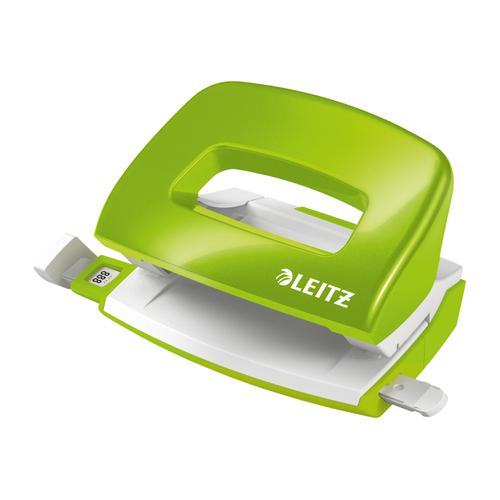 Leitz NeXXt WOW 5008 Hole Punch 2-Hole Capacity 30 sheets Green Ref 50081054