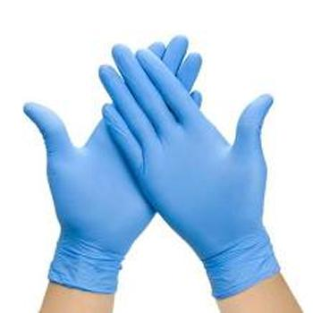 Nitrile gloves, blue, powder free small and medium [Box of 100]