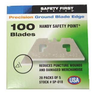 Pacific Handy Cutter Safety Point Blades Silver Ref SP-018 [Pack 100] *Up to 3 Day Leadtime*
