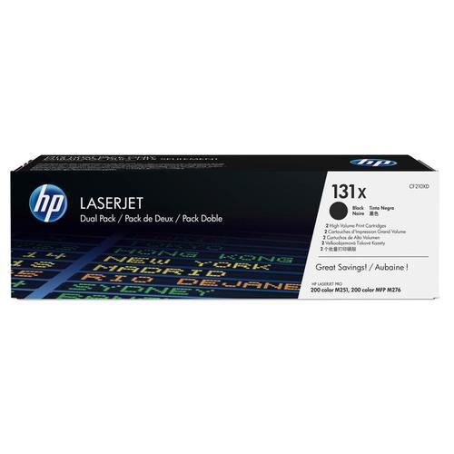 HP 131X Toner Cartridge Page Life High Yield 2400pp Black Ref CF210XD [Pack 2]