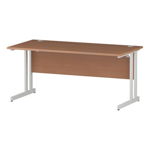 Trexus Rectangular Desk White Cantilever Leg 1600x800mm Beech Ref I001676