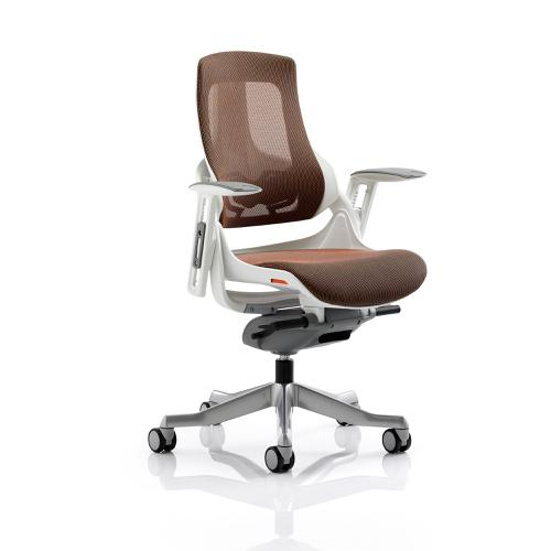 Adroit Zure Executive Chair With Arms Mesh Mandarin Ref EX000113