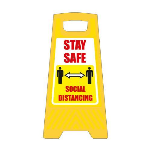 Social Distancing Free Standing Floor Sign 300x600mm