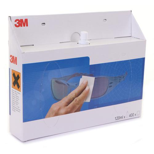3M Lens Clean Station with 120ml Cleaning Fluid Bottle White Ref LCS *Up to 3 Day Leadtime*